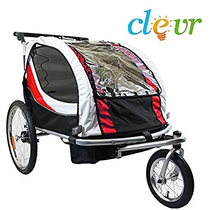 Clevr Deluxe 2 Child Bike Trailer