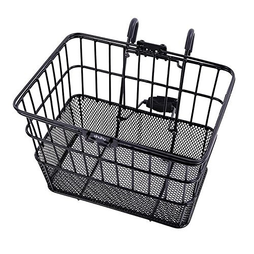 Ohuhu Rust-Proof Quick Release Front Handlebar Bicycle Lift off Basket