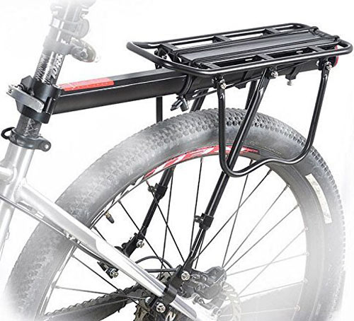 COMINGFIT 110 Lbs Capacity Aluminum Alloy Bicycle Rear Rack