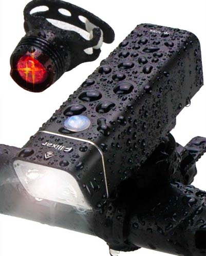 Fillixar USB Rechargeable Bike Light Front 600 Lumens