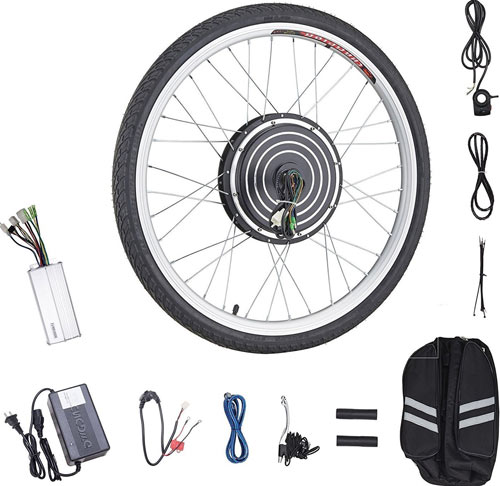"Pinty 26""x1.8"" Front or Rear Wheel Ebike Hub Motor Conversion Kit"